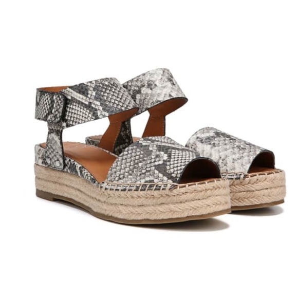 d52d87a525b Franco Sarto Oak Platform Wedge Espadrille Sandals